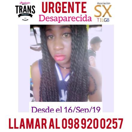 Geraldine Cáceres es una activista trans de la Asociación Silueta X que se encuentra desaparecida