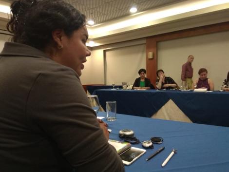Diane Rodriguez junto a Dainius Puras relator especial de ONU para la salud mental y fisica 2