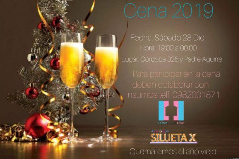 Cena de fin de año comunitaria del Centro Psico Trans by Silueta X 2019 - Cena Navidad