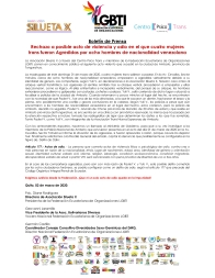 Boletín de Prensa - Rechazo a posible acto de violencia y odio en el que cuatro mujeres trans fueron Agredidas por ocho hombres de nacionalidad venezolana - Fderacion LGBT Ecuador